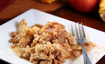 oab diet recipe, fat free apple crumb dessert