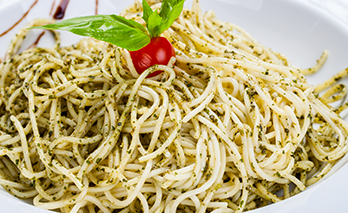 oab diet recipe, parsley pesto spaghetti