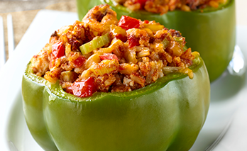 oab diet recipe, stuffed bell peppers