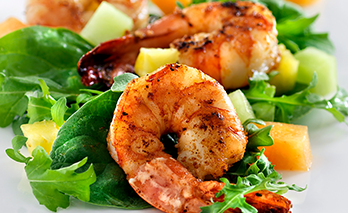 oab diet recipe, ten minute shrimp salad