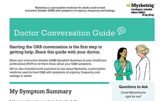 how to talk to your doctor about overactive bladder, oab